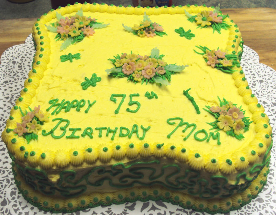 Moms 75th Birthday Cake 2 By