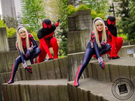 Spider-Gwen and Kaine