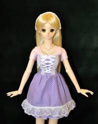 Purple Polka Dot Dress by Rasmirin