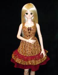 Brown Roses Lolita Dress by Rasmirin