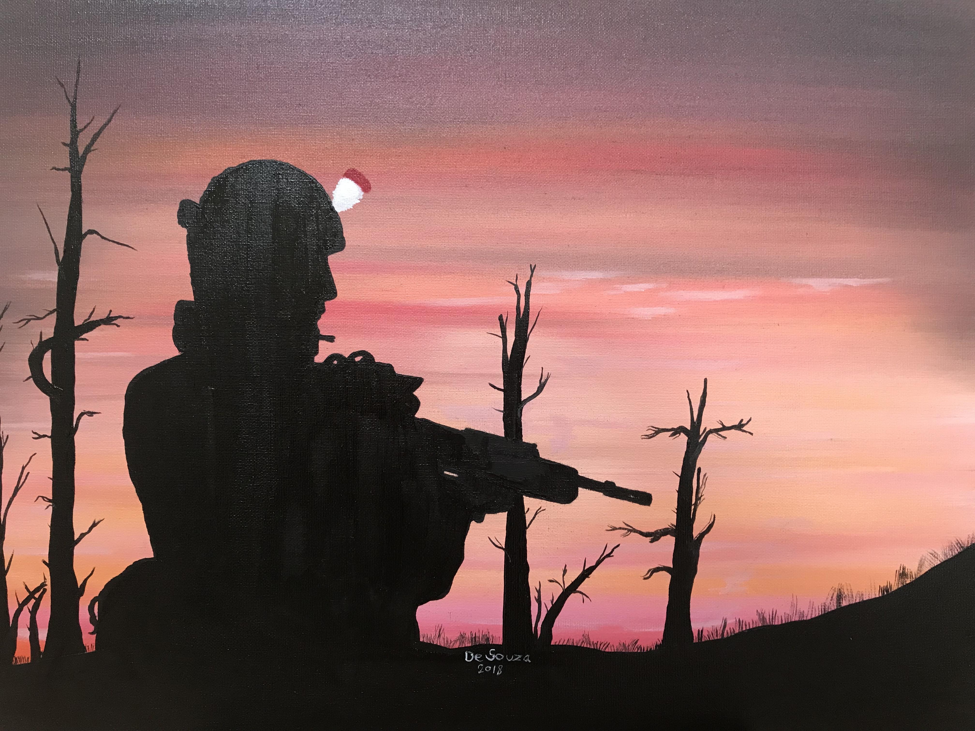 silohette sunset by Davethepioneer
