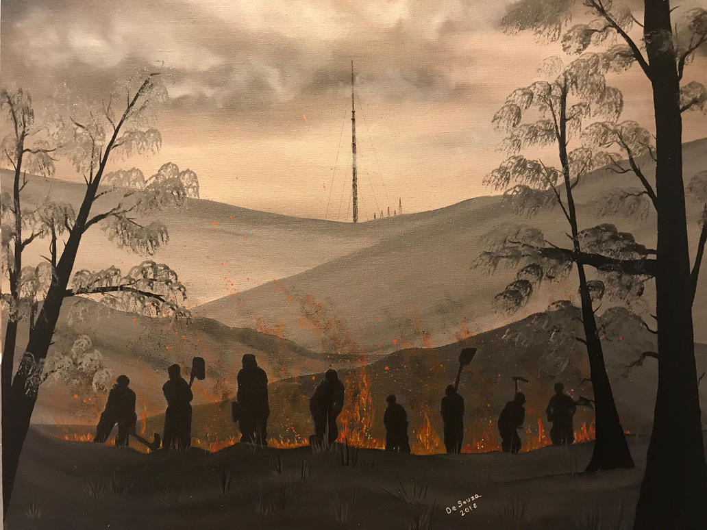 winter hill fire by Davethepioneer