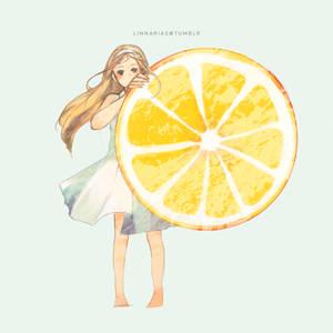 iced lemon slice
