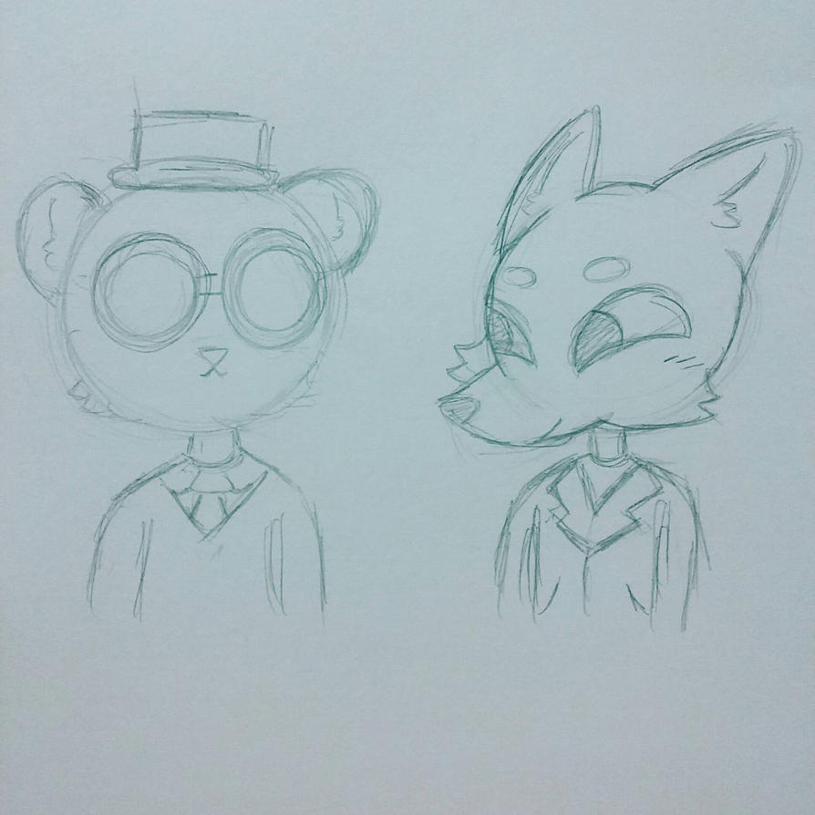 [WIP] Angus and Gregg | Night In The Woods  by SpaceChildHere