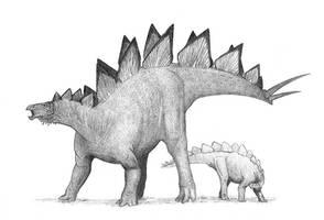 Stegosaurus by Alnus