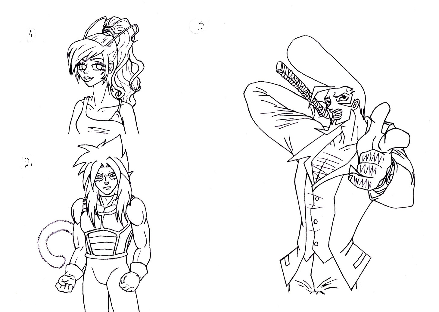 3 commi linearts by MusicAndArtItsMyLife