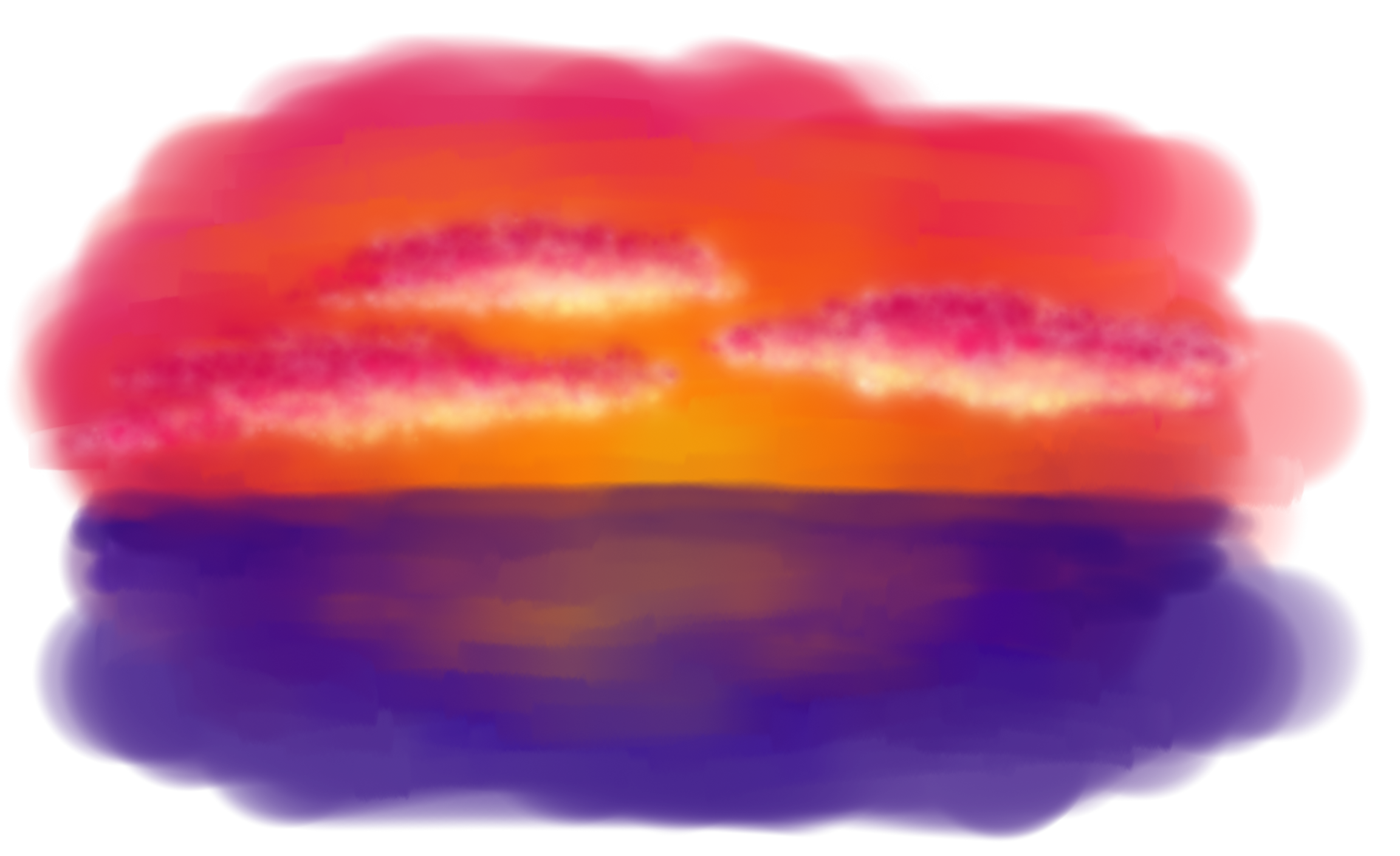 sunset painting by MusicAndArtItsMyLife