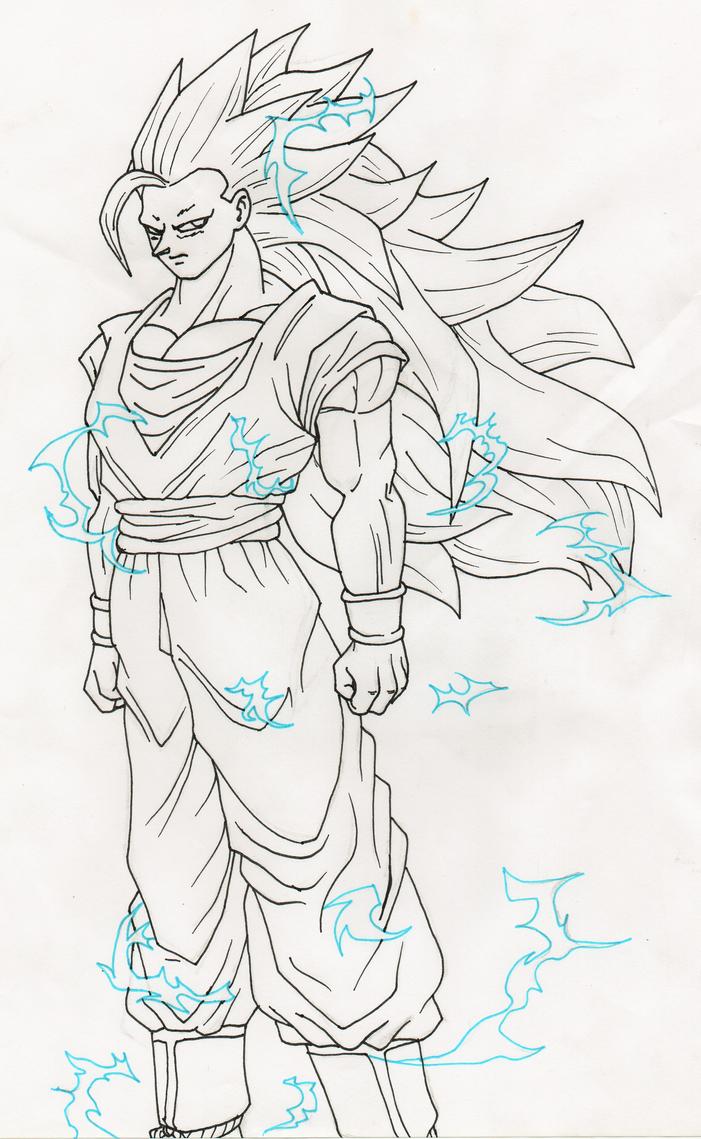 Goku SSJ3 lineart by MusicAndArtItsMyLife