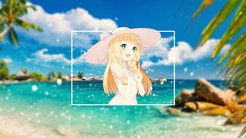 Wallpaper beach anime girl by ncadorabella on deviantart - Beach anime girl ...