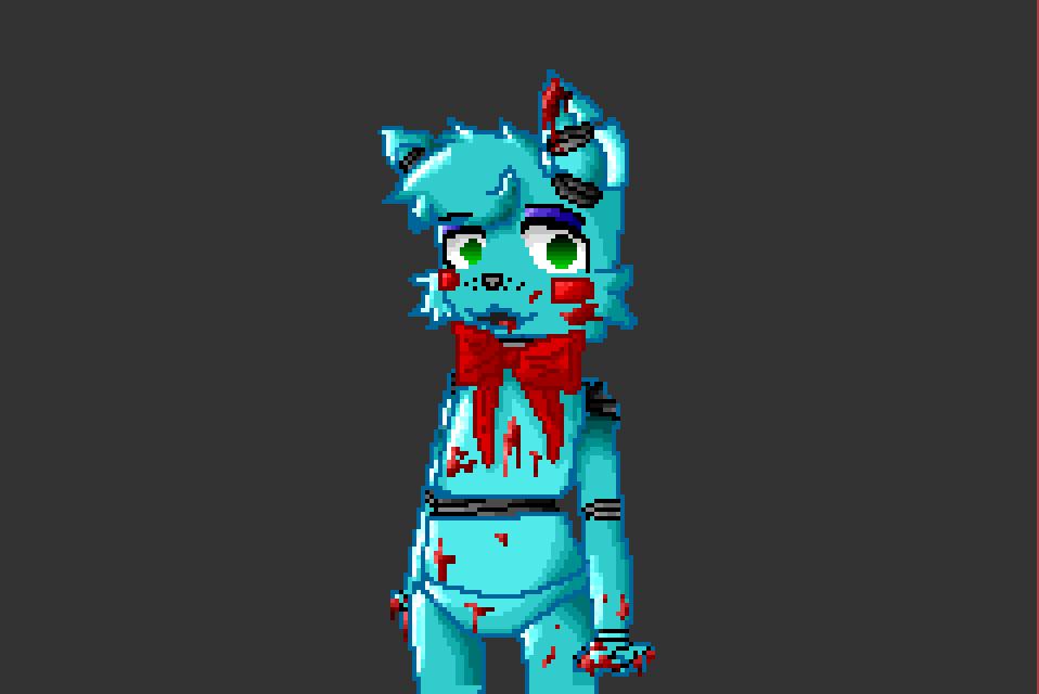 Toy Bonnie Pixel Art With Blood By Libratinninja On Deviantart