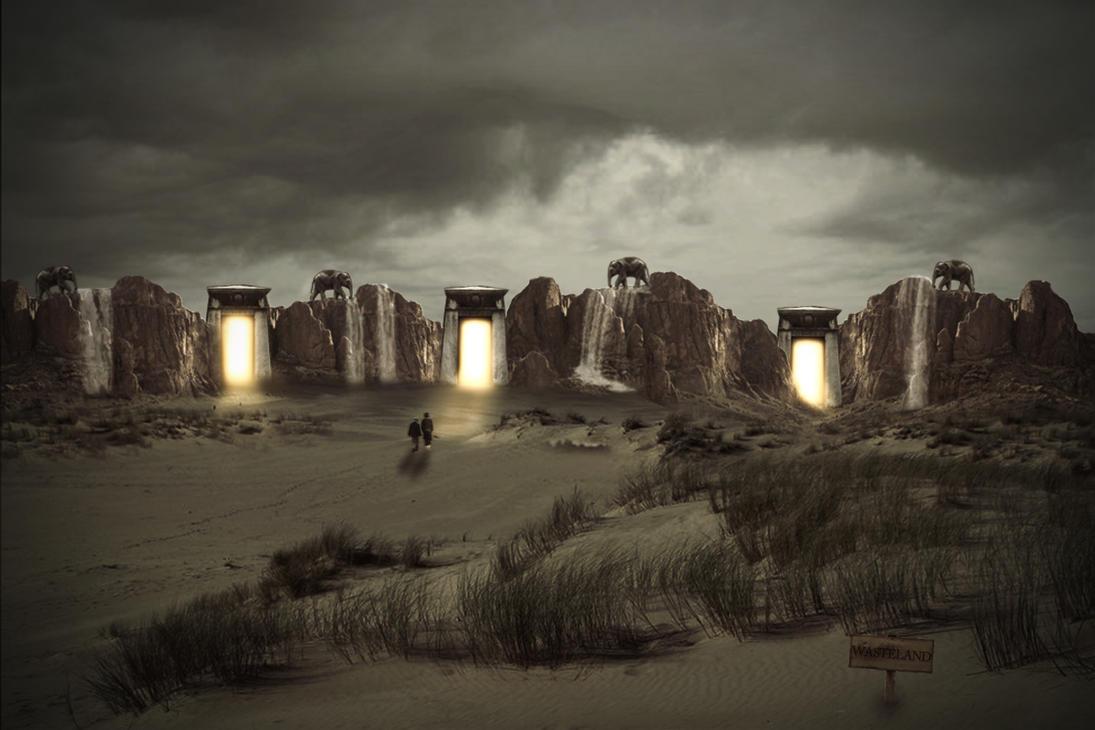 Journey to the Wasteland Through Elephant Mountain by JonKoomp