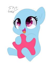 chibi pony base FIM O.9 by Sharkothepainter