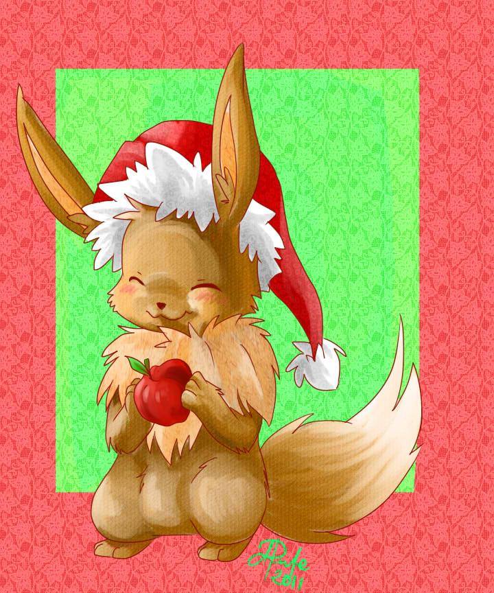 Christmas Eevee by yassui on DeviantArt