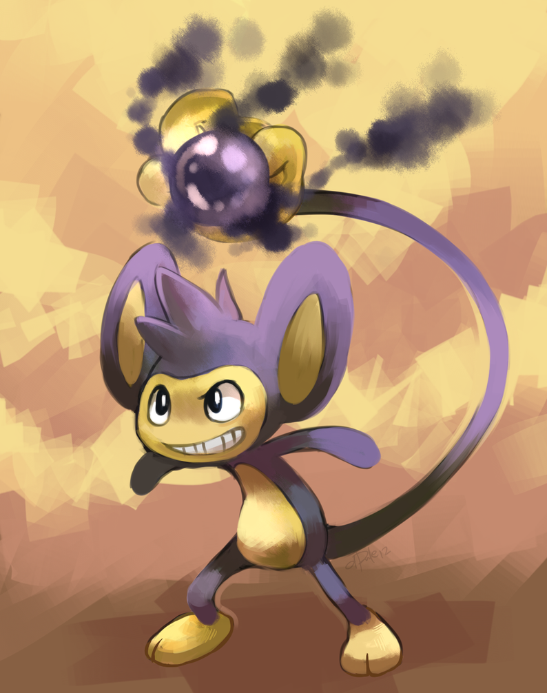 Aipom used Shadow Ball by yassui
