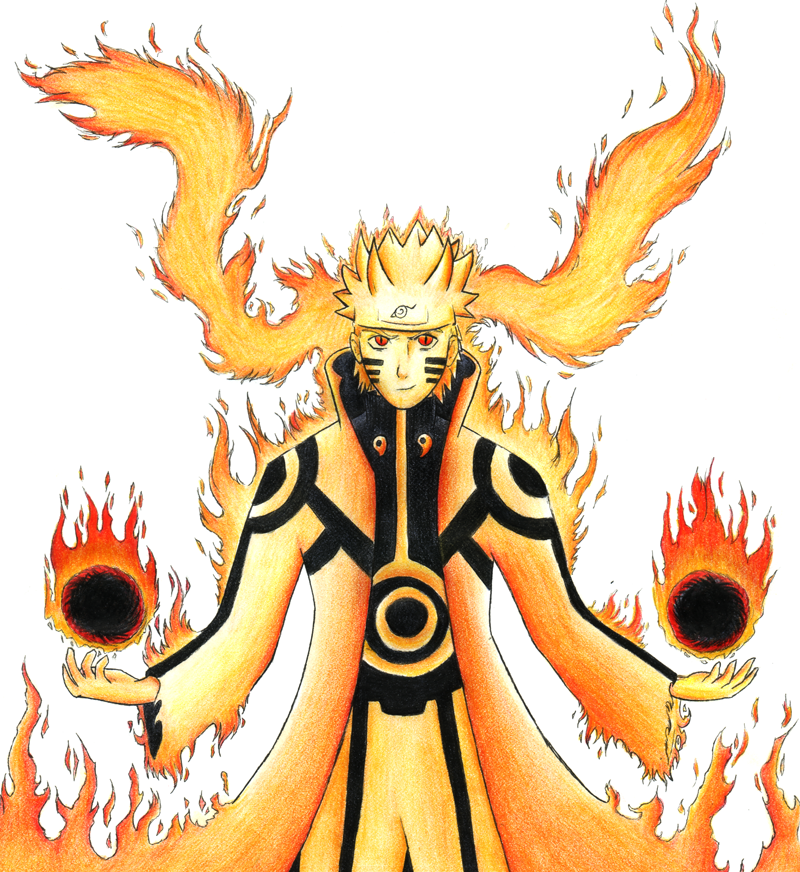 naruto kyuubi cloak mode - photo #17