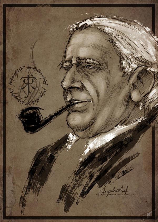 J.R.R. Tolkien by AngieParadiseeker