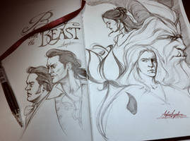 Tale as Old as Time_SKETCH by AngieParadiseeker