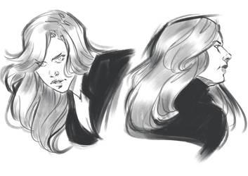 [SKETCH] Black Widow by AngieParadiseeker