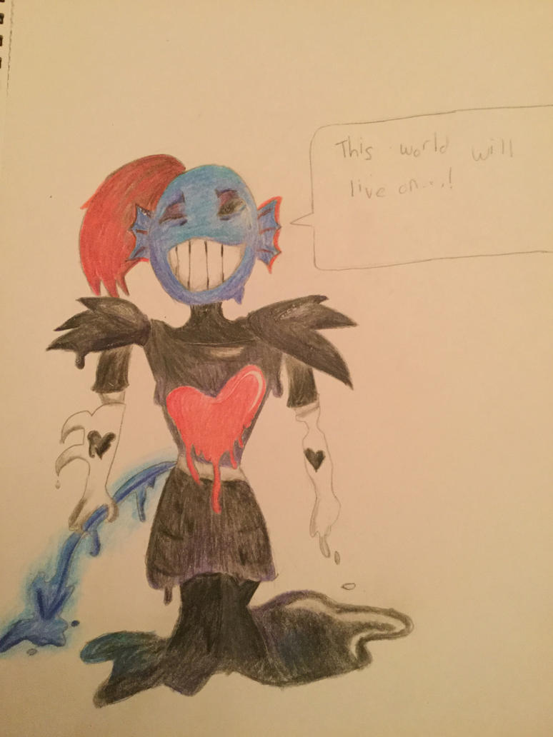 Undyne the Dying (Undertale No Mercy run spoilers) by adventurepirate