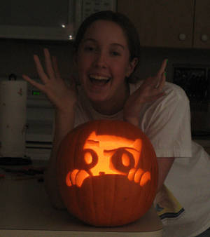 Foamy's Pumpkin Stare