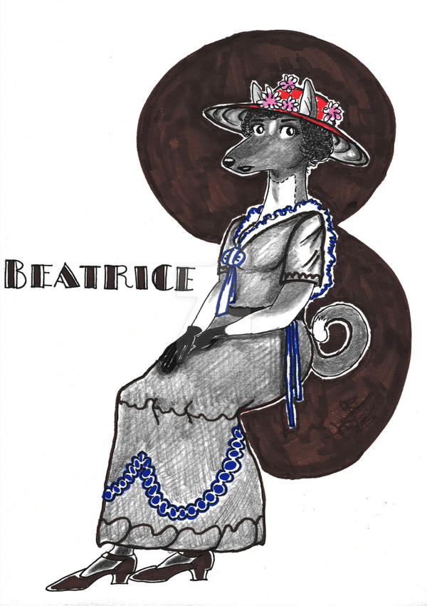 Beatrice-art-nouveau-Print by CopperSphinx