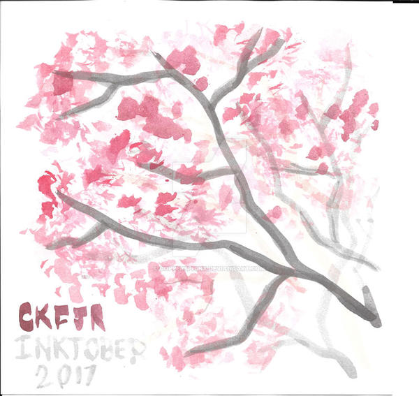 Inktober 2017 Simply-Sakura by CopperSphinx