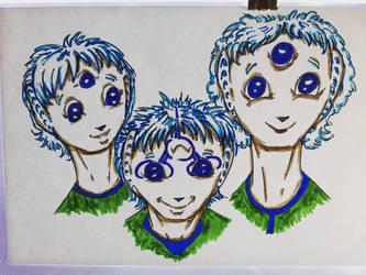 The Tra-Ra triplets Drawtober 2020