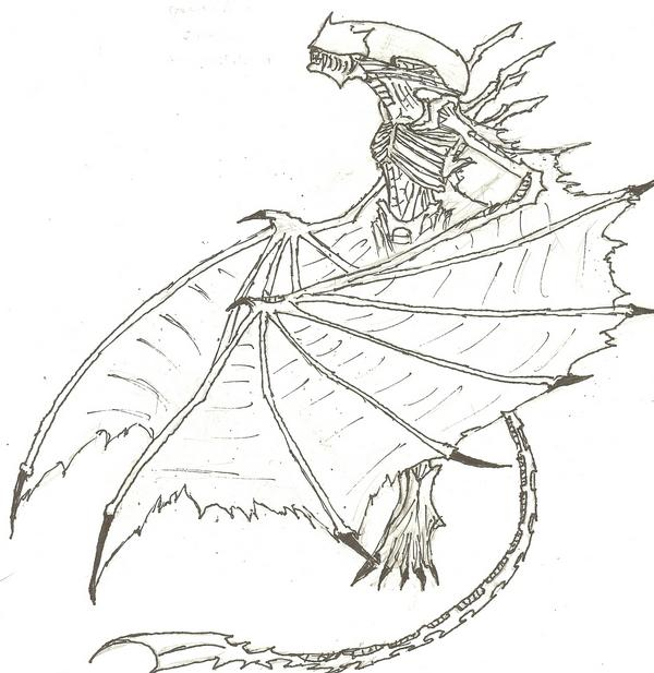 Alien queen free coloring pages for Xenomorph coloring pages