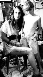Coline and brothers by Morgane-B-Art