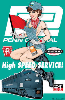 Penn Central Pin-Up