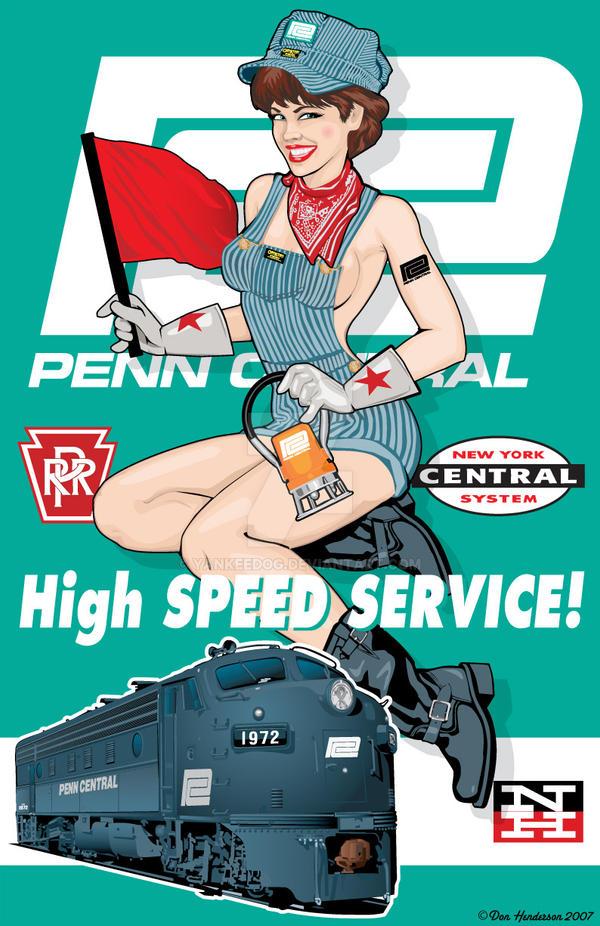 Penn Central Pin-Up by yankeedog