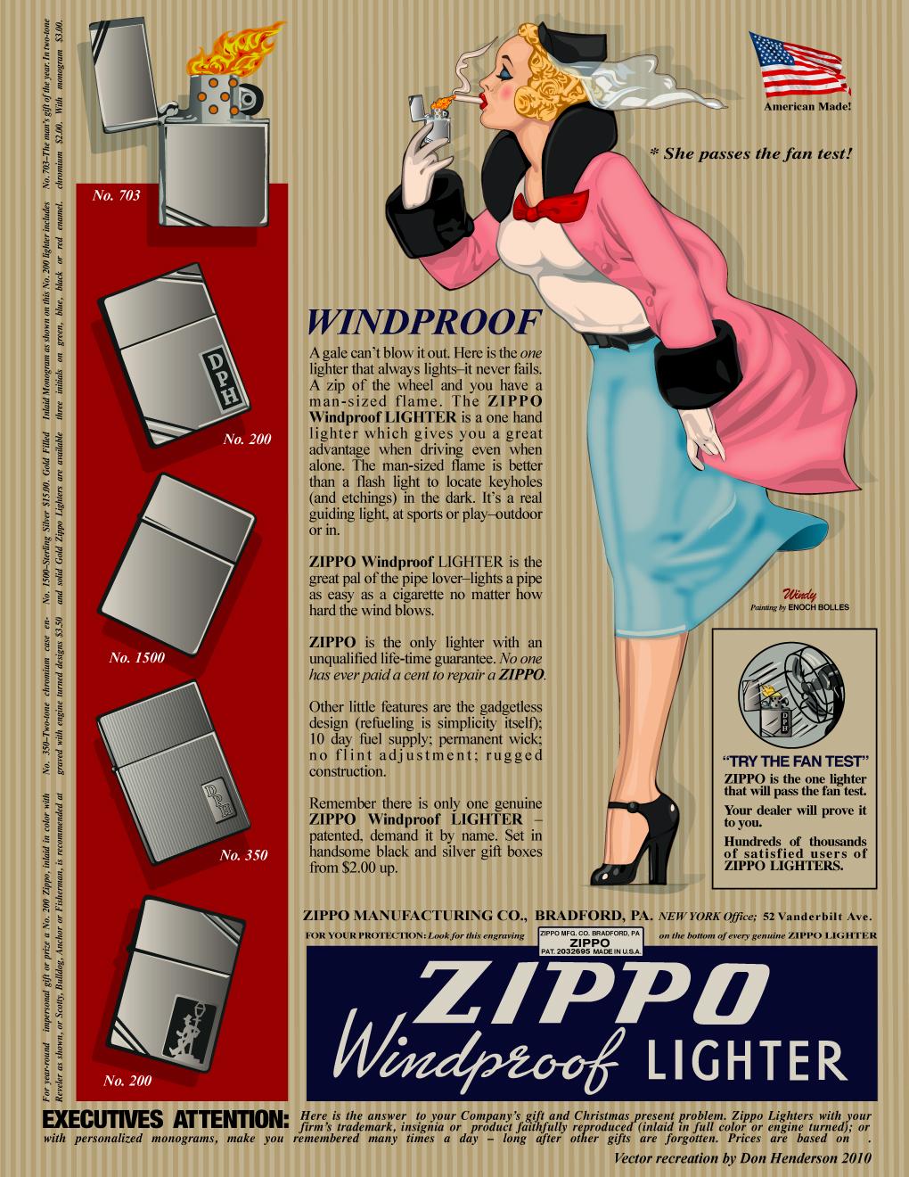 Vintage Zippo Ad by yankeedog