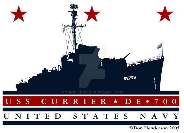 USS Currier DE 700 by yankeedog
