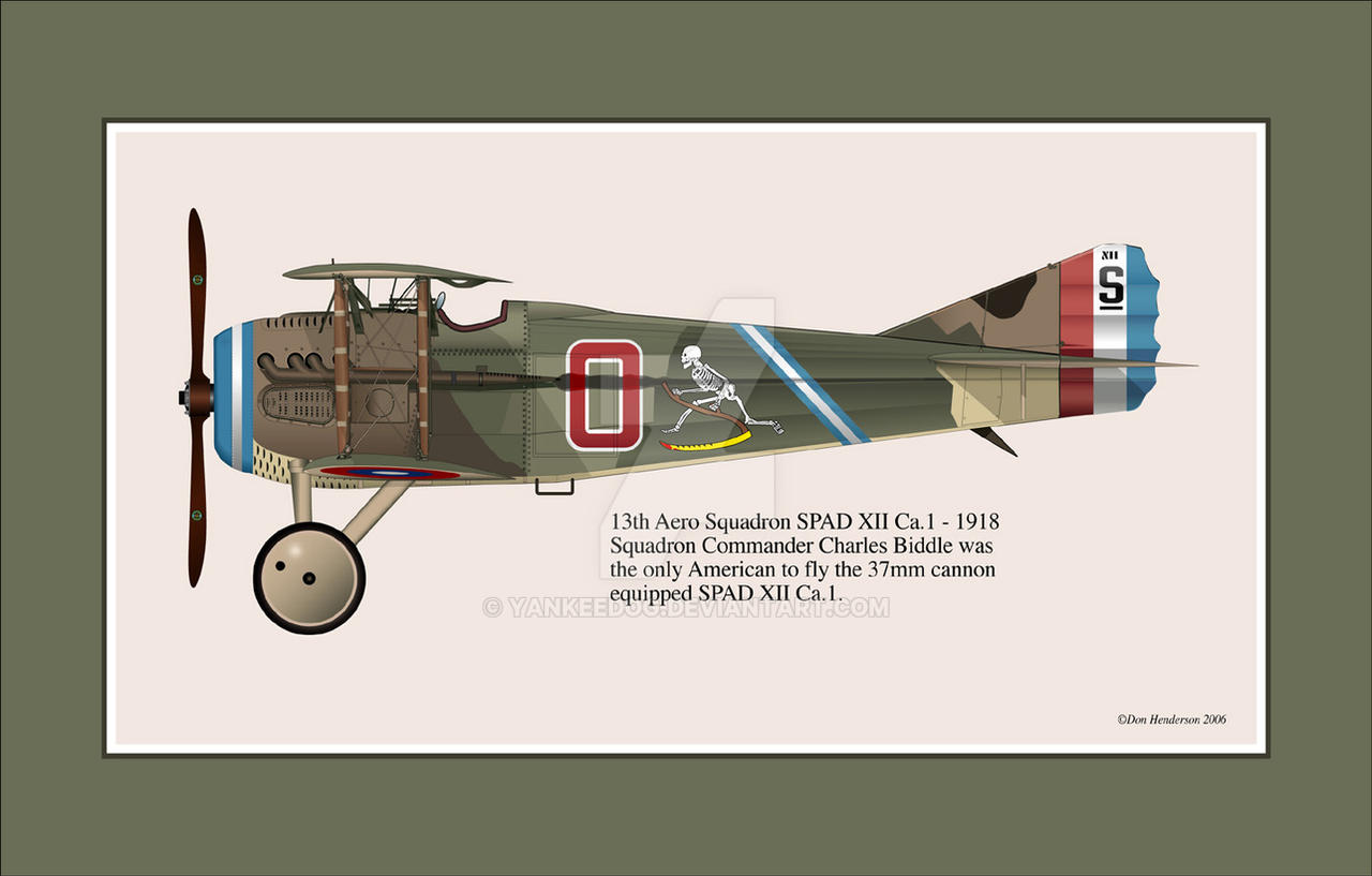 Capt Biddle's SPAD XII Ca.1 by yankeedog