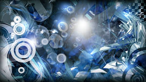 Abstract Blue PSP Wallpaper