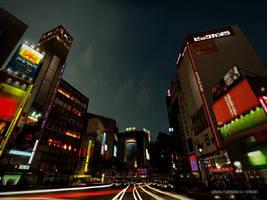 Shibuya Japan by heathfiedler