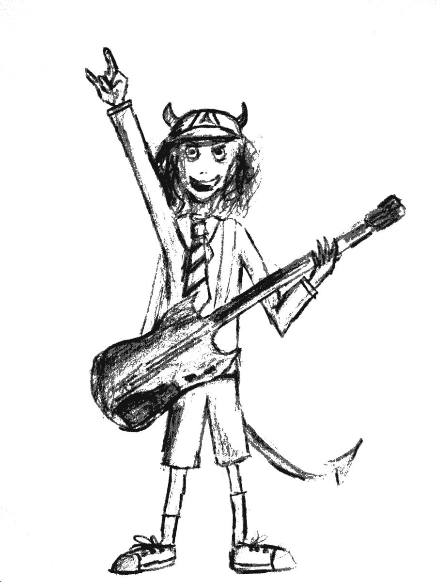 angus young by kristdaoud on deviantart