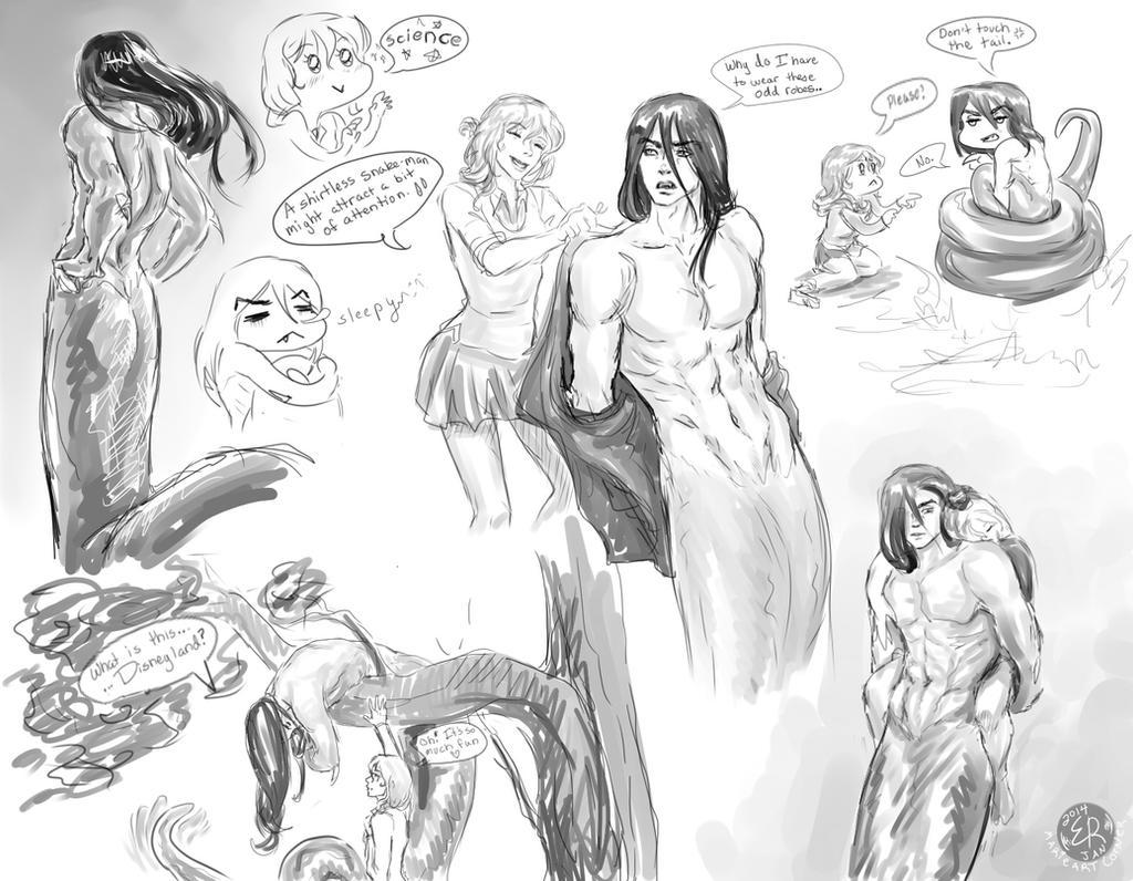 Mr Diamond Eyes - Sketch dump 3 by marieartcorner