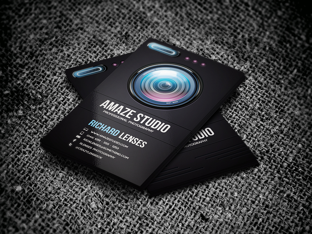 Photographer lens business card by odindesign on deviantart photographer lens business card by odindesign colourmoves