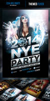 2014 New Years Eve Party Flyer Template
