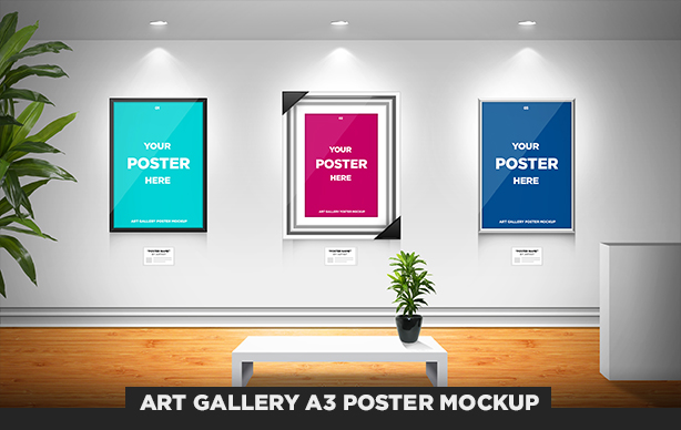 Art gallery a3 poster mockup by odindesign on deviantart art gallery a3 poster mockup by odindesign pronofoot35fo Choice Image