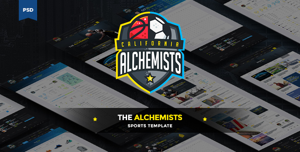 The Alchemists - Sports News PSD Template by odindesign