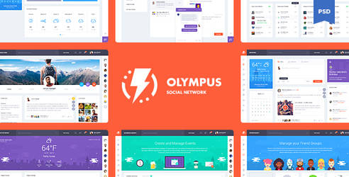 Olympus Social Network PSD Template