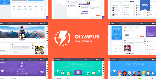 Olympus Social Network PSD Template by odindesign