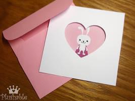 Valentine's day peintable card by voodoogrl