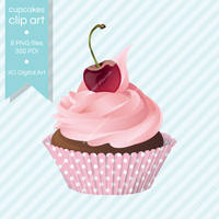 Cupcakes illustration clip art by voodoogrl