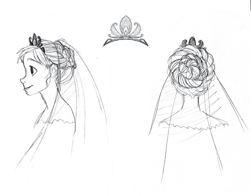 Anna Wedding Dress Hairstyle by djeffers