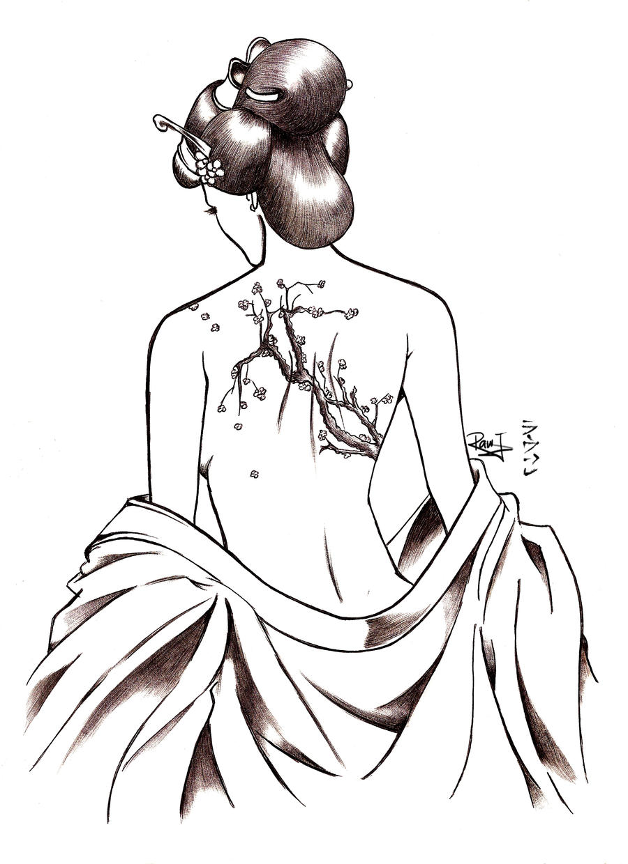 Japanese Geisha Drawings