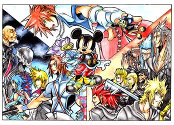 Kingdom Hearts Saga by Raw-J