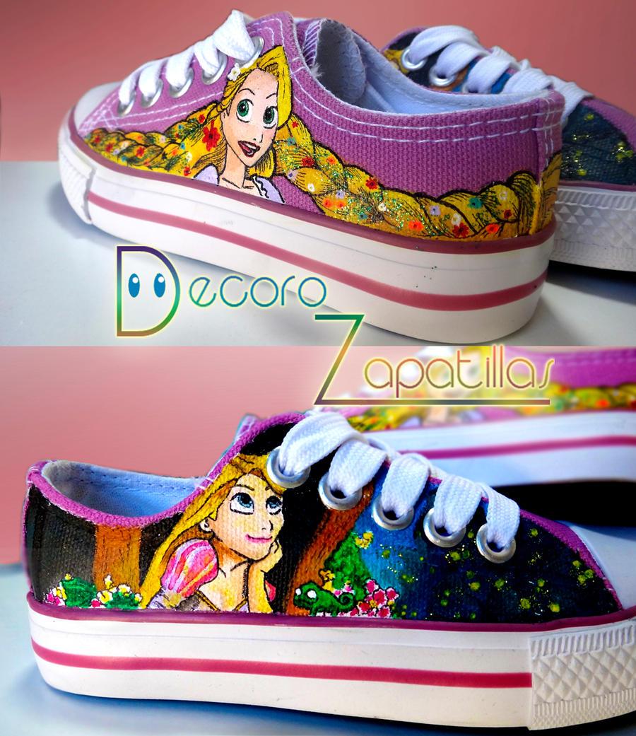 Rapunzel shoes by Raw-J